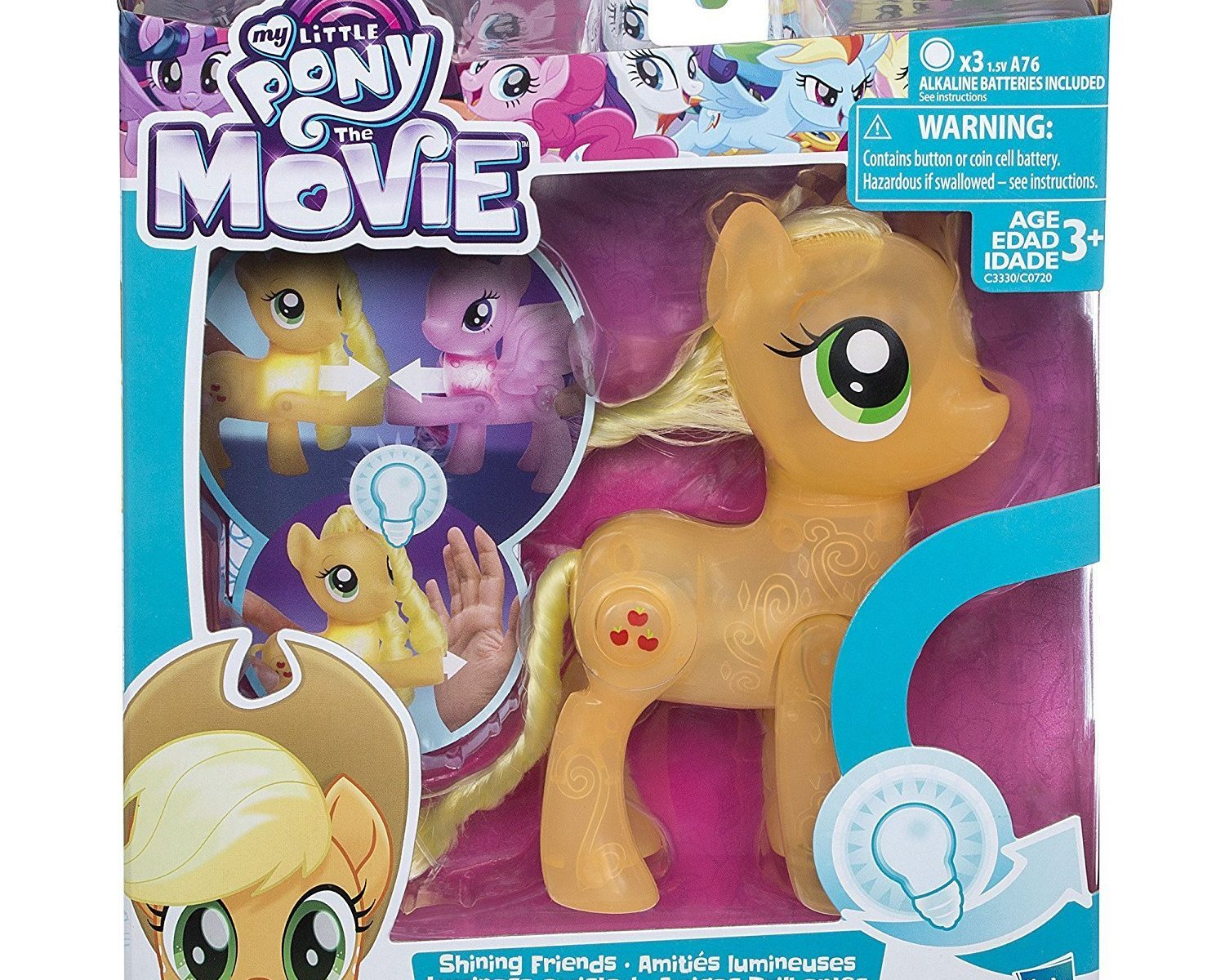 "New ""My Little Pony: The Movie"" Applejack Shining Friends Light Up figure  available on Amazon.com - My Little Pony Movie Toys"