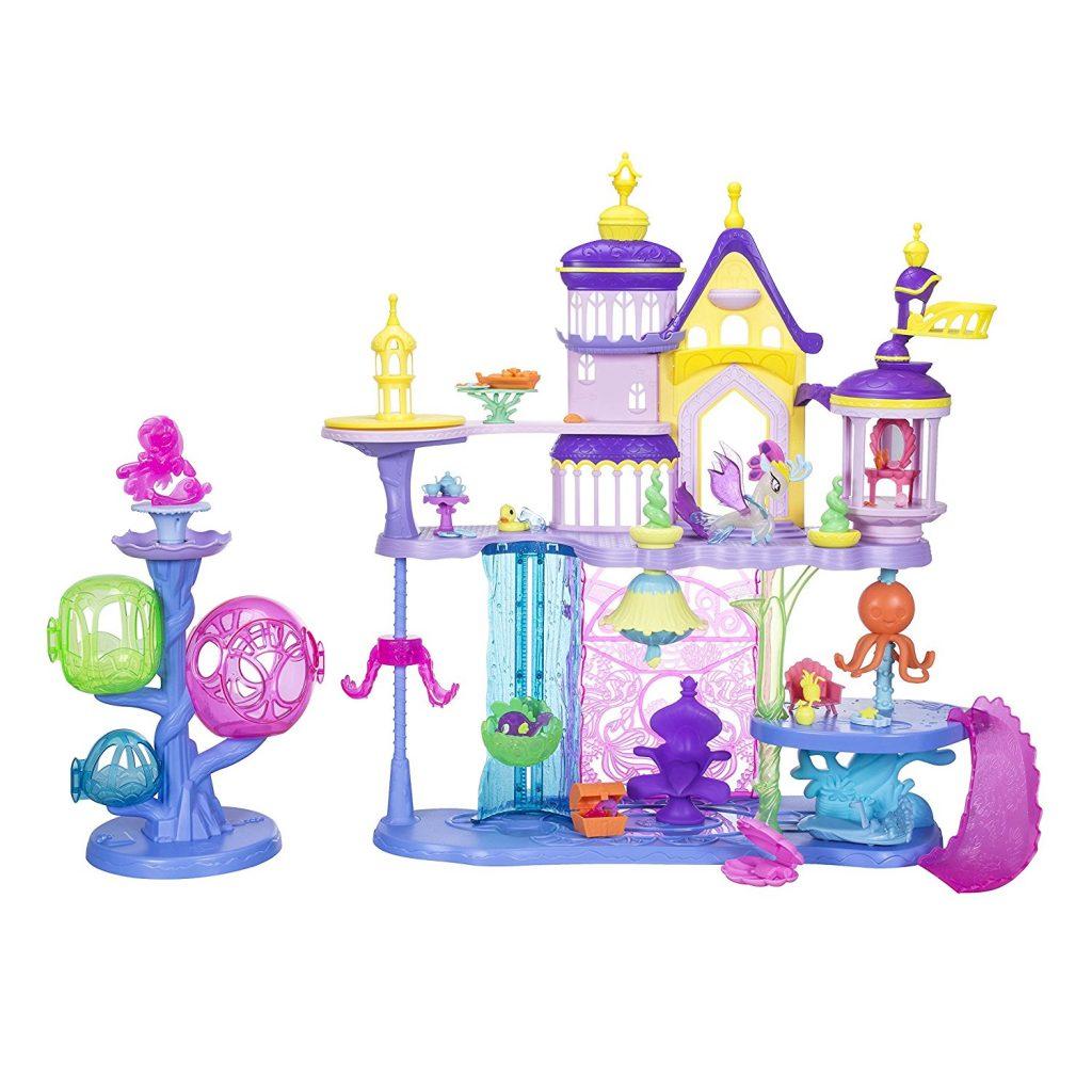 MLP: TM Canterlot & Seaquestria Castle light-up tower play set 2