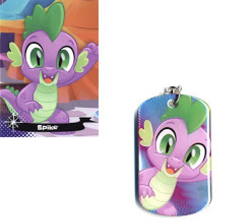 MLP: TM Spike Dog Tag and Trading Card set