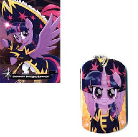 MLP: TM Princess Twilight Sparkle Pirate pony dog tag and trading card set