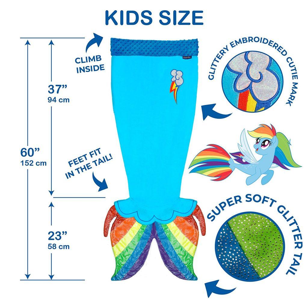 MLP: TM Rainbow Dash Sea Pony Tail Blanket 3