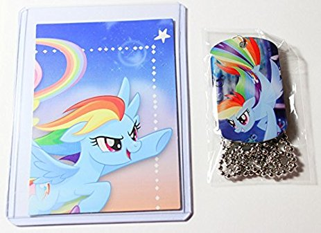 New My Little Pony The Movie Rainbow Dash Dog Tag And Trading