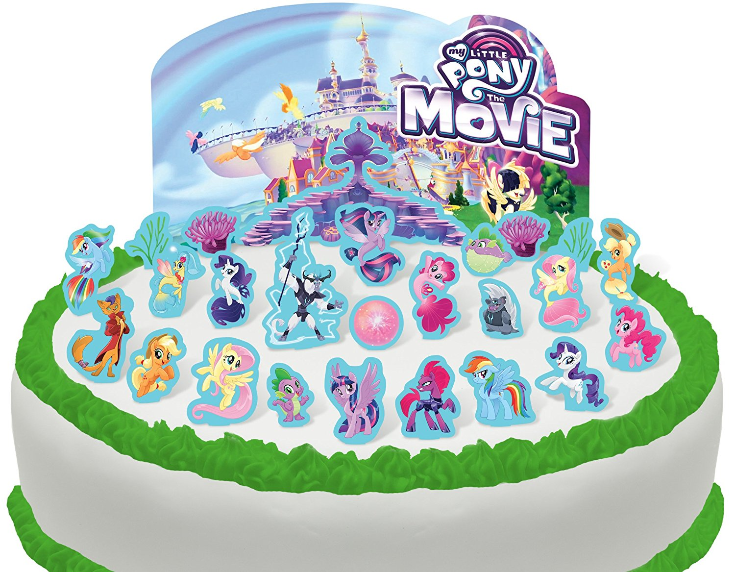 Marvelous New My Little Pony The Movie Cake Toppers 26 Pack Available On Funny Birthday Cards Online Alyptdamsfinfo