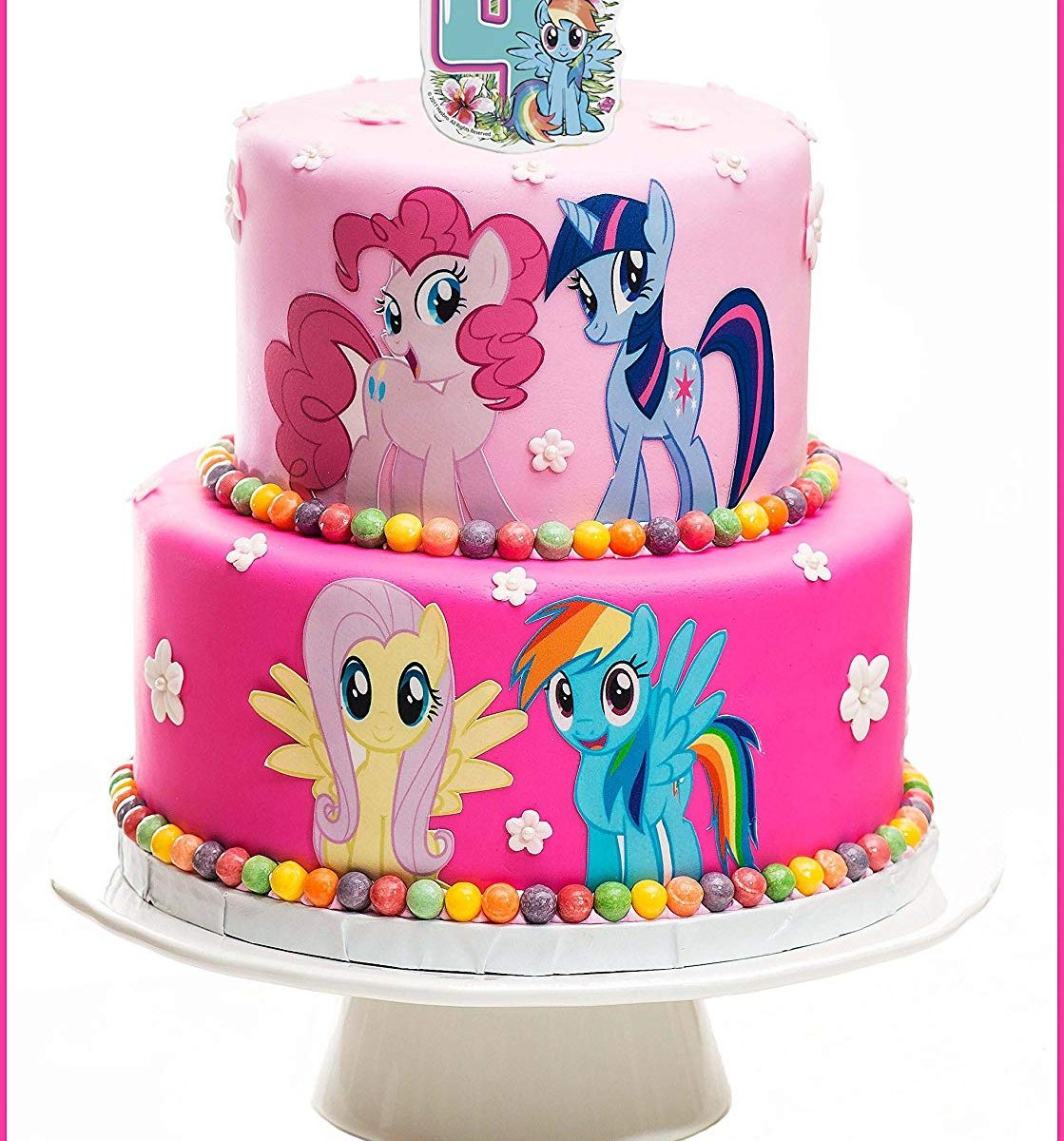 Pleasing New My Little Pony The Movie Rainbow Dash Number 4 Cake Candle Funny Birthday Cards Online Eattedamsfinfo