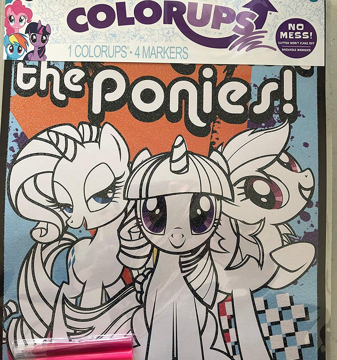 """4b7179fdef5 New """"My Little Pony  The Movie"""" Colorups Coloring Poster Set available on  Amazon.com"""