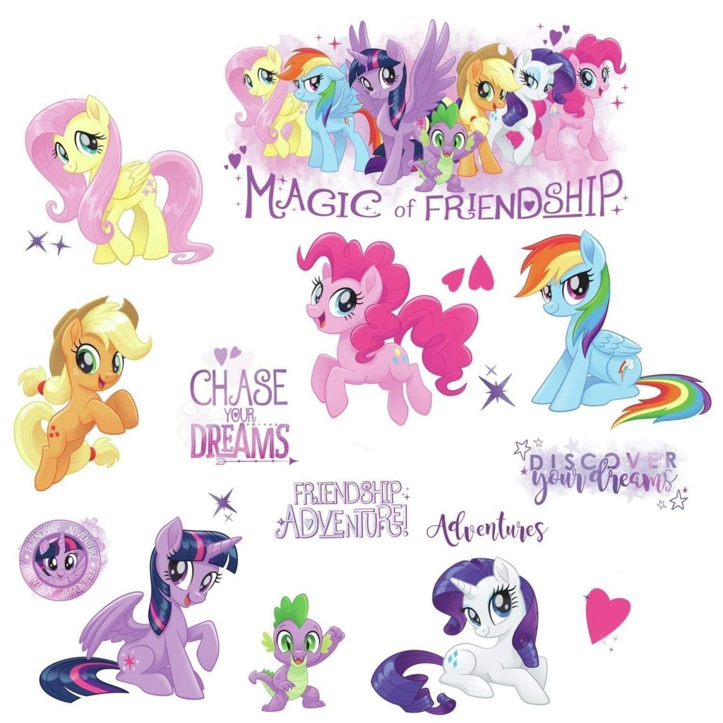 MLP: TM Peel & Stick Glitter Wall Decals Set