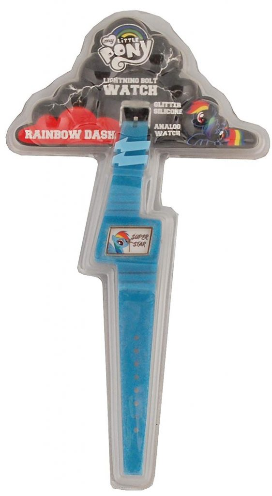 MLP: TM Rainbow Dash Lightning Bolt Glitter Watch