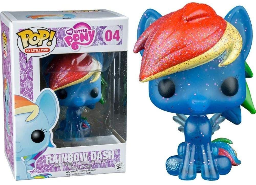MLP FP Rainbow Dash Glitter Bobble Head Toy