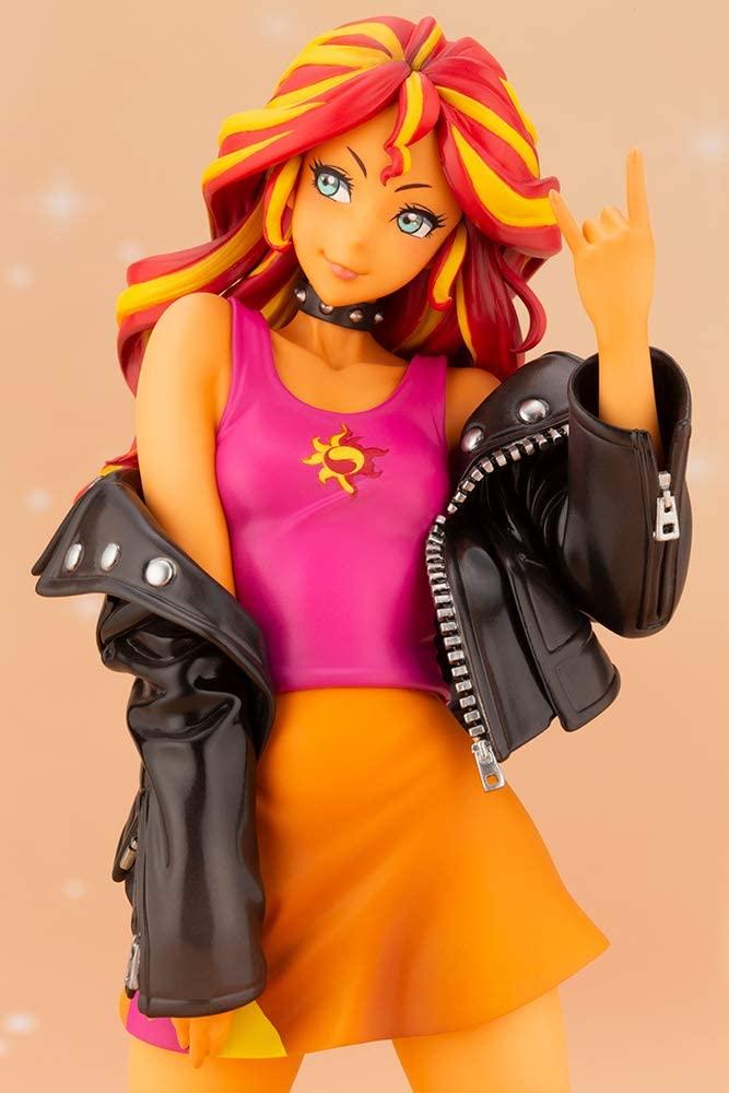 MLP Sunset Shimmer PVC Doll Statue Set 4