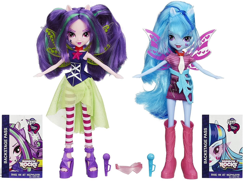 EG Rainbow Rocks Aria Blaze and Sonata Dusk Figure Doll 2-Pack 2