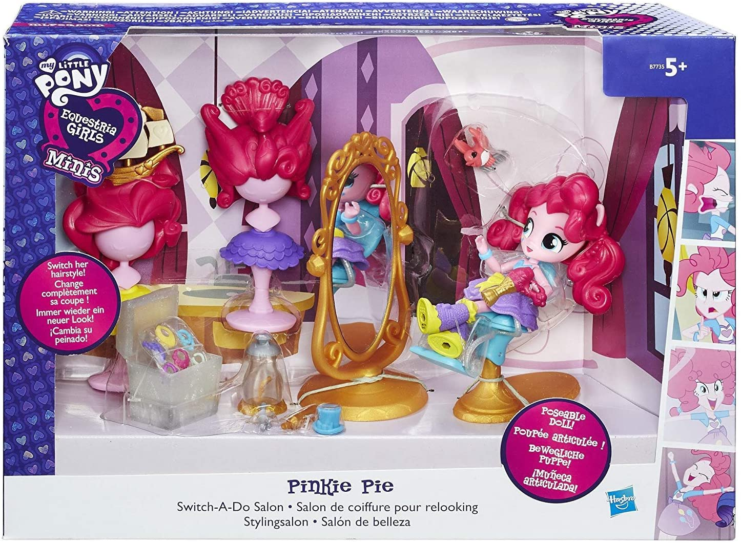 EG Pinkie Pie Switch a Do Salon Figure Set 1